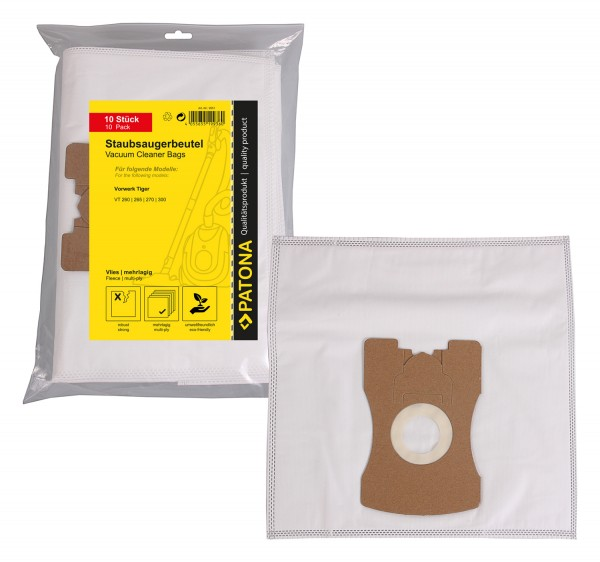 PATONA 10 vacuum cleaner bag multi layer fleece f. Vorwerk Kobold Kobold VT260 VT265 VT270 VT300