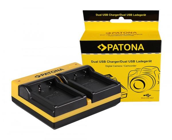 2x Battery Akku für Casio NP-80 Patona Dual USB Ladegerät NP-82
