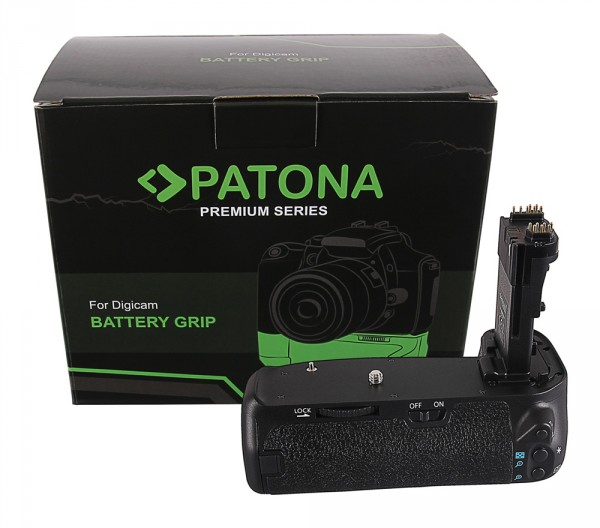 PATONA Premium Battery Grip f. Canon EOS 70D 80D BG-E14H f. 2 x LP-E6 batteries incl. IR wireless control