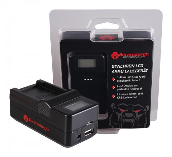 BERENSTARGH Synchron USB Charger f. Casio NP-20 Exilim EXM1 EX-M1 EXM2 EX-M2 EXM20 EX-M20 EXS1