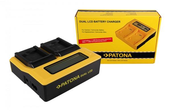 PATONA Dual LCD USB Chargeur pour Samsung Samsung BP-88A Legria DV200 DV300