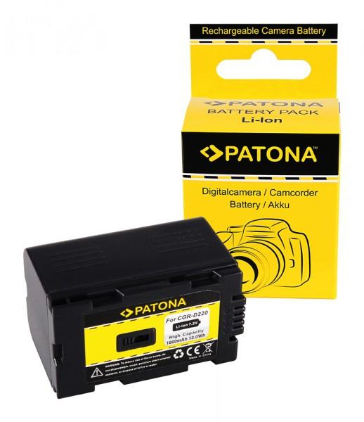PATONA Akku f. Panasonic CGR-D220 CGR-D16 NV-Serie CGA-D54 CGA-D54S CGA-D54SE CGA-D54SE/1B CGA-D54SE