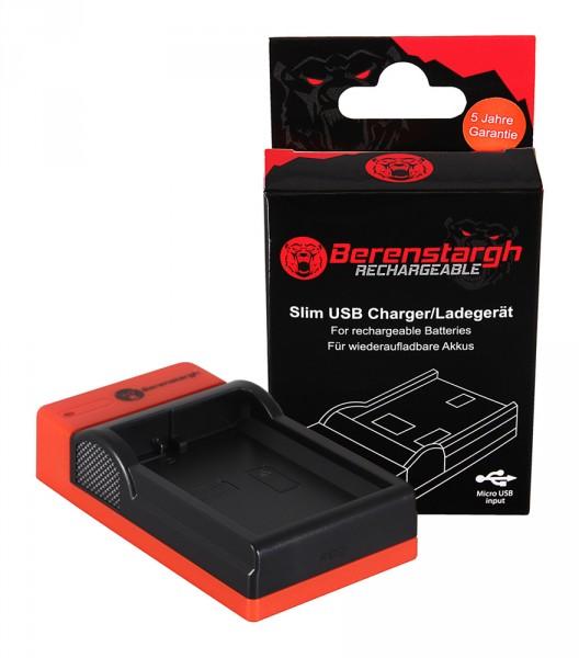 Berenstargh Slim Micro-USB Ladegerät f. Nikon EN-EL14 1D3100 D3200 D5100 D5200 P7000 P7700 P7800
