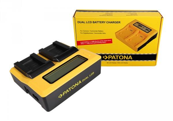 PATONA Dual LCD USB Ladegerät f. Sanyo DB-L90 DMX DMXSH1 DMX-SH1 DMXSH11 DMX-SH11 DB-L90 VPC