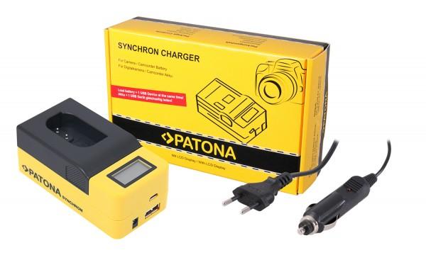 PATONA Synchron USB Charger f. Panasonic DMW-BLK22 DC-S5 G9 GH5 GH5S