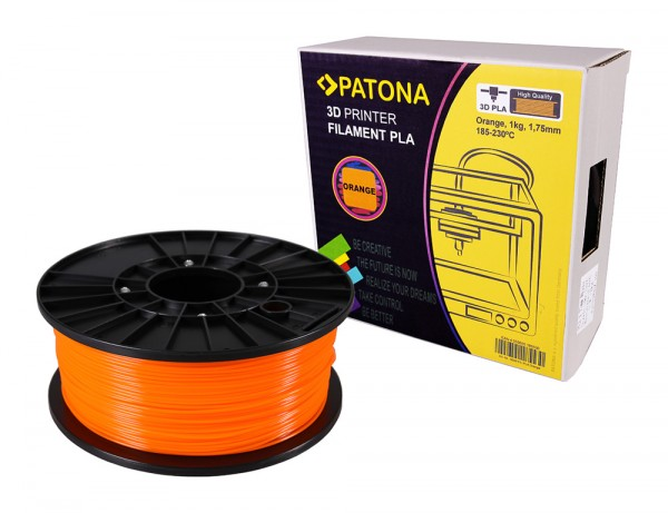 PATONA 1,75mm orange PLA Filament pour imprimante 3D
