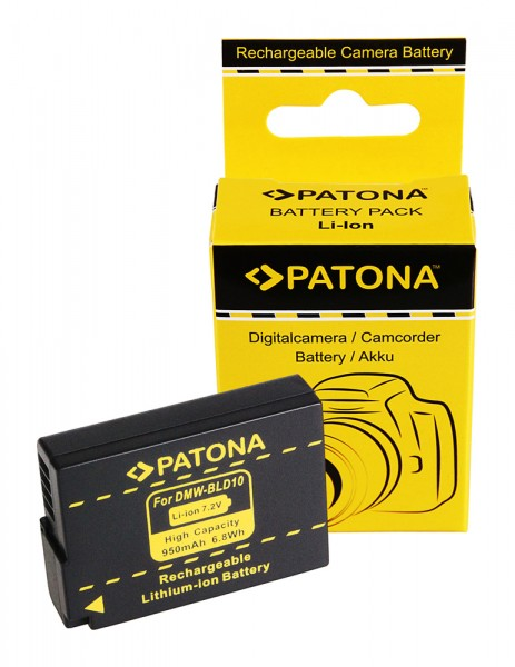 PATONA Akku f. Panasonic BLD10 BLD10E DMC-GF2 GF2