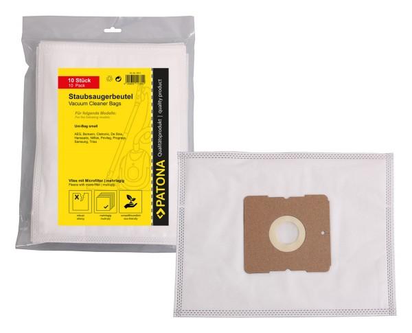 PATONA 10 Staubsaugerbeutel Vlies mehrlagig inkl. Microfilter f. AEG Gr. 50