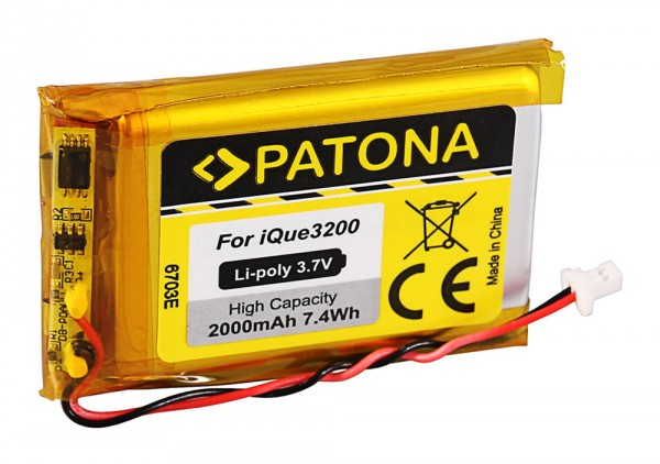 PATONA Battery f. Garmin iQue 3200 iQue 3200 3600 3600a