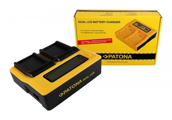 PATONA Dual LCD USB Chargeur pour Nikon Nikon EN-EL5 CoolPix 3700 4200 5200 5900 7900 P500 P5000