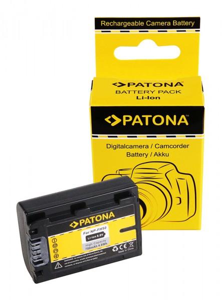 PATONA Batterie pour Sony NP-FH50 Alpha A230 A290 A330 A380 A390 NP-FH50 DCR