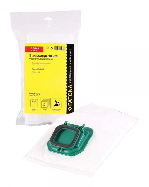 PATONA 6 vacuum cleaner bag multi layer fleece f. Vorwerk Kobold VK140 VK150