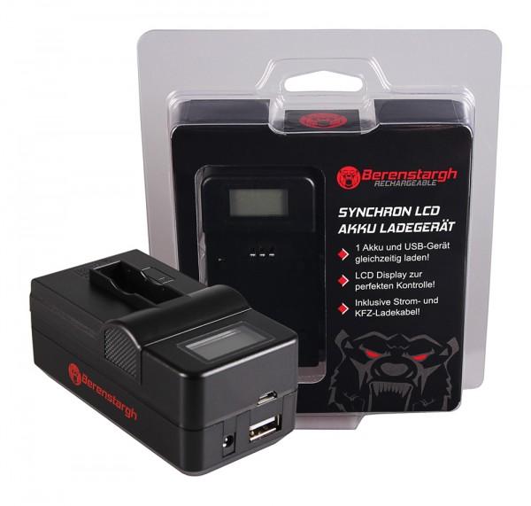 Berenstargh Synchron USB Charger f. GoPro AHDBT-401 Hero4 Black Edition AHDBT-401 Hero5 Black