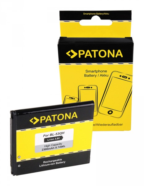 PATONA Batterie pour LG Optimus L9 (P760) Optimus 4X HD (P880) F5 (P875) L9 (P760)
