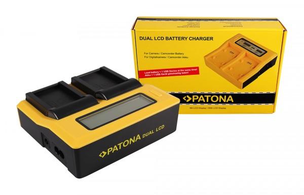 PATONA Dual LCD USB Ladegerät f. Canon LP-E17 EOS 750D 760D 8000D Kiss X8i Rebel