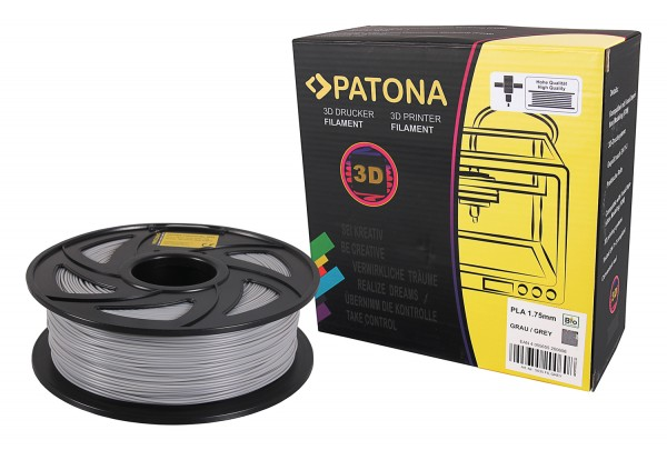 PATONA 1.75mm grey PLA 3D printer Filament