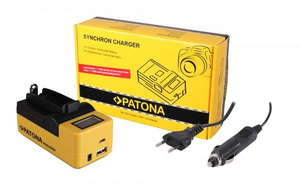 PATONA Synchron USB Charger f. 18650 Zelle ICR18650-26F INR18650F1L NCR18650B US18650VTC5 US18650VTC6L