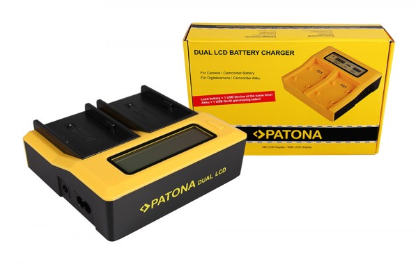 PATONA Dual LCD USB Charger for Sony BP-U30 BP-U60 BP-U90 BP-U95 BPU30 BPU60