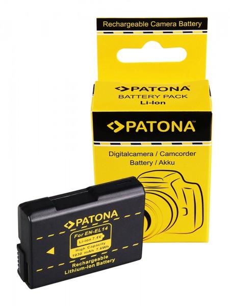 PATONA Battery EN-EL14 ENEL14 f. NIKON P7100 P7000 D5100 D3200 D3100