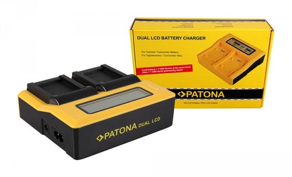 PATONA Dual LCD USB Ladegerät f. Canon NB10L NB-10L