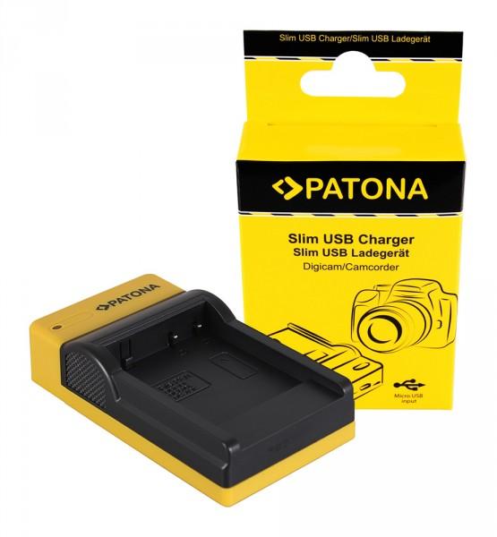 PATONA Slim Micro-USB Ladegerät f. Panasonic DMW-BCF10E Lumix DMC-FS7 DMCLX5 DMCLX5 DMC-LX5
