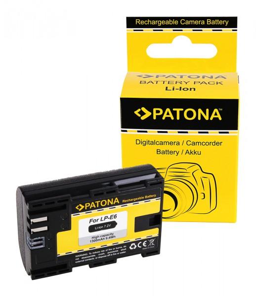 PATONA Akku f. Canon LP-E6 LPE6 EOS R EOS 5D Mark II EOS 7D m. InfoChip