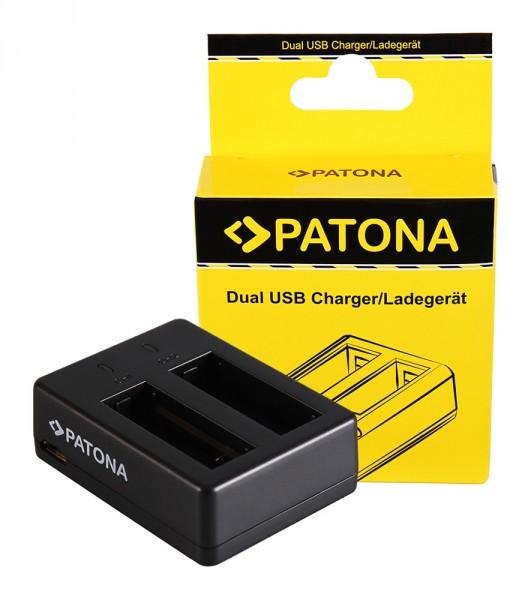 PATONA Dual Quick-Charger f. SJCAM SJ6 Legend Black SJ6000 incl. Micro-USB cabel