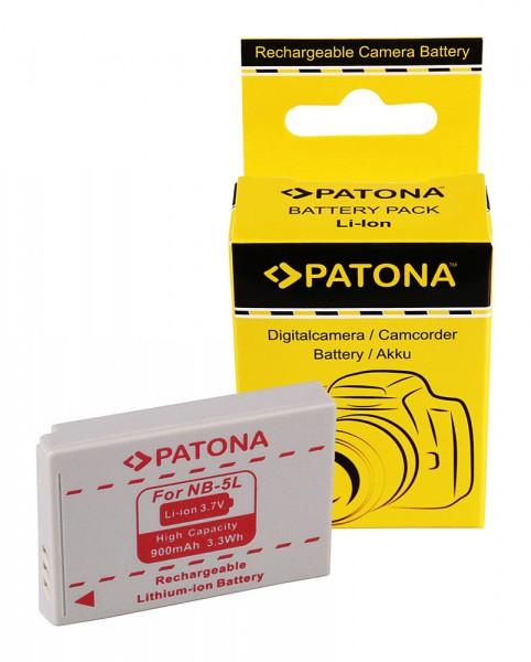 PATONA Akku f. Canon IXUS 800 IS 850 IS 900 Ti NB-5L NB5l