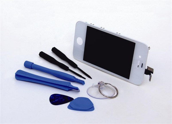 Apple iPhone 4 4G LCD LC Displayset white incl. opening tools