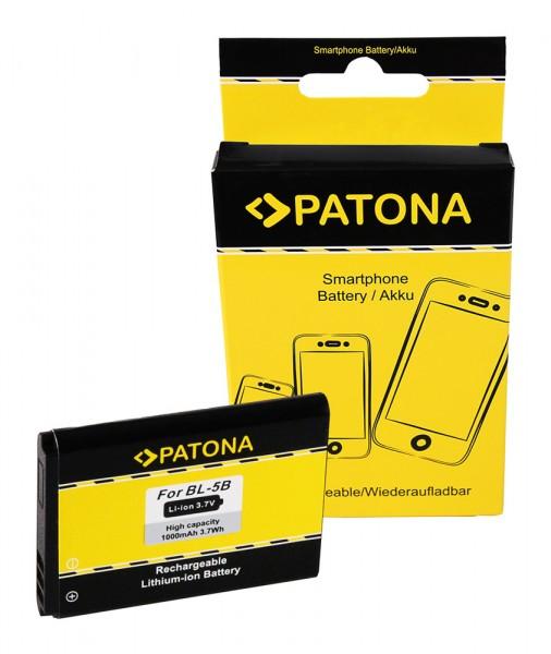 PATONA Batterie pour Nokia 3220 3220 3230 5070 5140 5200 5300 5320 5500 6020 6021