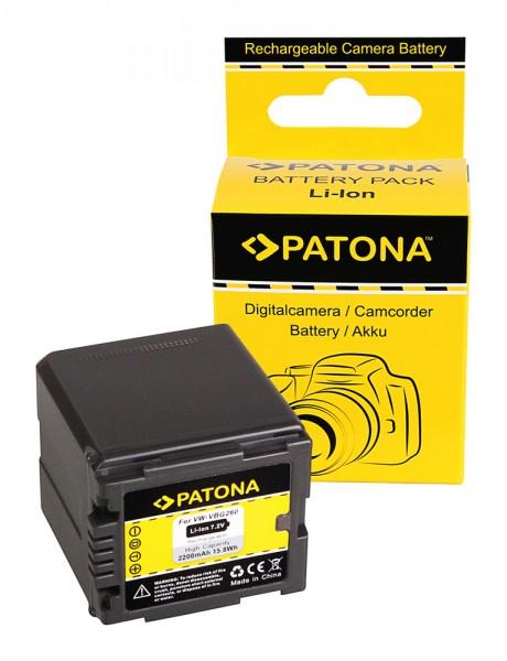 PATONA Batterie pour Panasonic VW-VBG260 HDC HDCDX1 HDC-DX1 HDCDX1EGS HDC-DX1EG-S