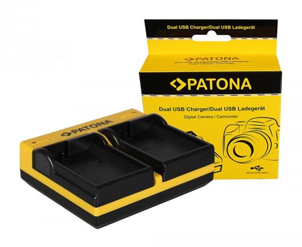 PATONA Dual Ladegerät f. Nikon EN-EL15 1 V1 EN-EL15 D600 D610 D7000 D7100 D800 D8000 inkl. Micro-USB
