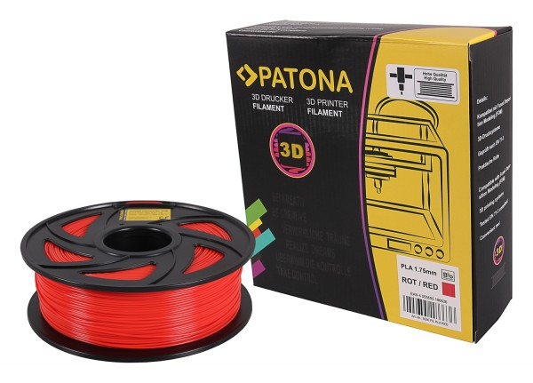 PATONA 1.75mm red PLA 3D printer Filament