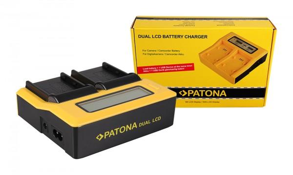 PATONA Dual LCD USB Chargeur pour Konica Minolta EN-EL3 EN-EL3e FNP-150 BLM5 Dynax 5D 7D EN-EL3