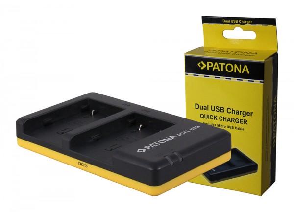 PATONA chargeur double pour Canon NB-2l Camcorder MV5 MV5i MV5iMC MV6iMC MV790 MV800 MV830avec câble Micro-USB