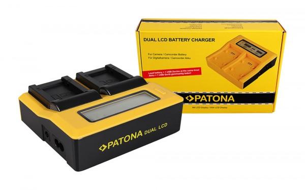 PATONA Dual LCD USB Ladegerät f. Panasonic BPDC9 BPDC9E BP-DC9E DC9 DC-9 BMB9