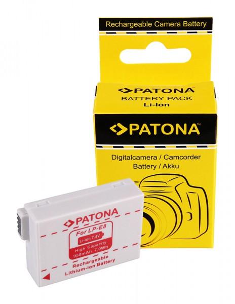 PATONA Batterie pour Canon LP-E8 EOS 550D 600D 650D 700D