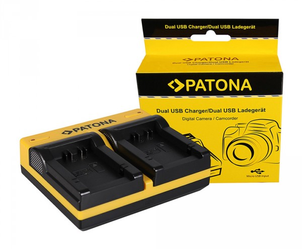 PATONA Dual Ladegerät f. Leica Panasonic DMW-BMB9 V-Lux V-Lux 2 VLux 2 II Panasonic inkl. Micro-USB