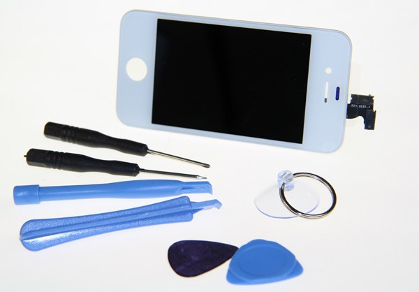 Apple iPhone 4s LCD LC Displayset white incl. opening tools