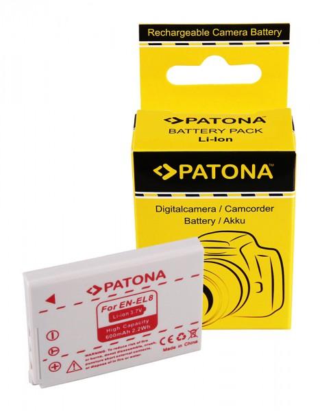 PATONA Akku f. Nikon Coolpix P2 P1 S3 S2 S1 ENEL8 EN-EL8