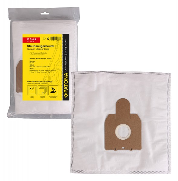 PATONA 10 vacuum cleaner bag multi layer fleece incl. Microfilter f. MELITTA PH 84