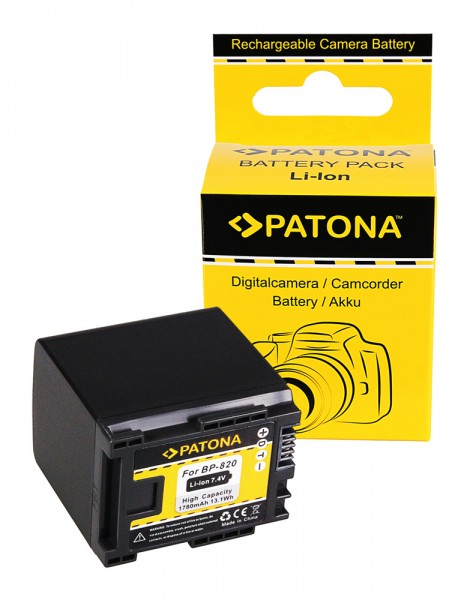 PATONA Batterie pour Canon BP-820 HF HFG30 HF-G30 BP-820 Legria G10 G20 G25 HF G30