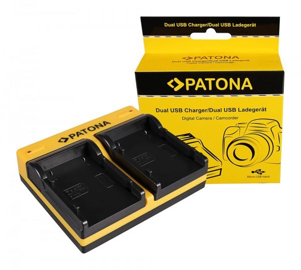 PATONA Dual Ladegerät f. Samsung SB-P90A SC SC105L SC-105L SCM105 SC-M105 SCM105S inkl. Micro-USB Ka