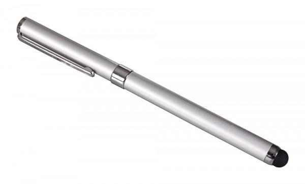 PATONA 2in1 Touchpen Kugelschreiber edles silber silver