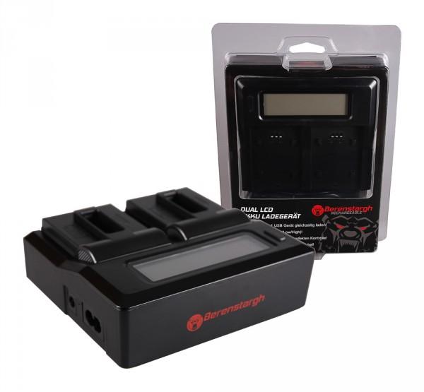 BERENSTARGH Dual LCD USB Charger f. GoPro Gopro Hero 5 Hero 6 Hero 7