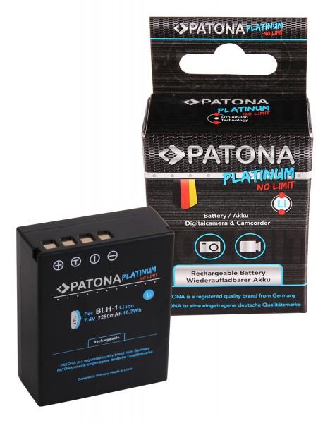 PATONA Platinum Akku volldecodiert f. Olympus BLH-1 EM-1 Mark 2 E-M1X 2250 mAh