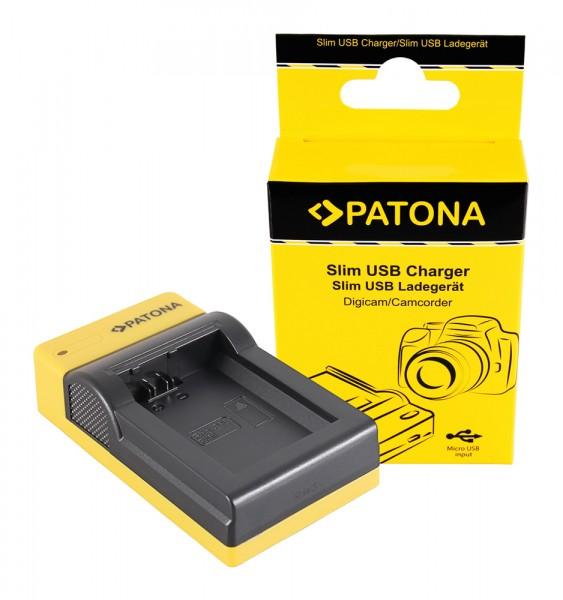 PATONA Slim Micro-USB Ladegerät f. Sony NP-FW50 NEX A33 A55 NEX.3 NEX.3C NEX.5 NEX.5A NEX.5C