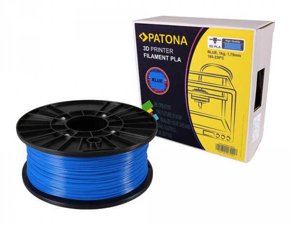 PATONA 1.75mm blue PLA 3D printer Filament