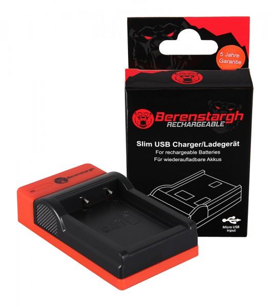 Berenstargh Slim micro-USB Charger f. Fujifilm Fuji NP-W126 FinePix HS30 EXR HS30EXR HS-30EXR HS33