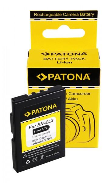 PATONA Akku f. Nikon EN-EL2 COOLPIX 2500/3500 ENEL2